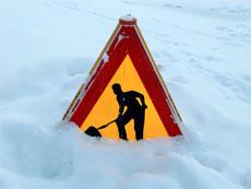 Travaux sous la neige