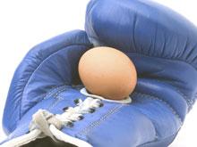 Un oeuf dans un gant de boxe