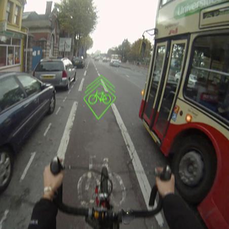 Le Blaze projète une image devant le vélo