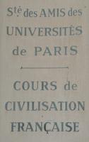 Cours de civilisation française